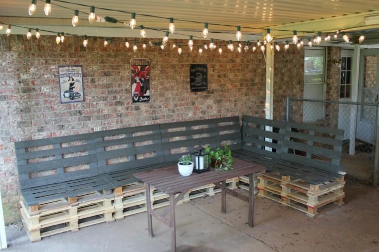 30 Diseños de muebles de palets para tu jardín 14