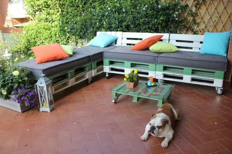 30 Diseños de muebles de palets para tu jardín 16