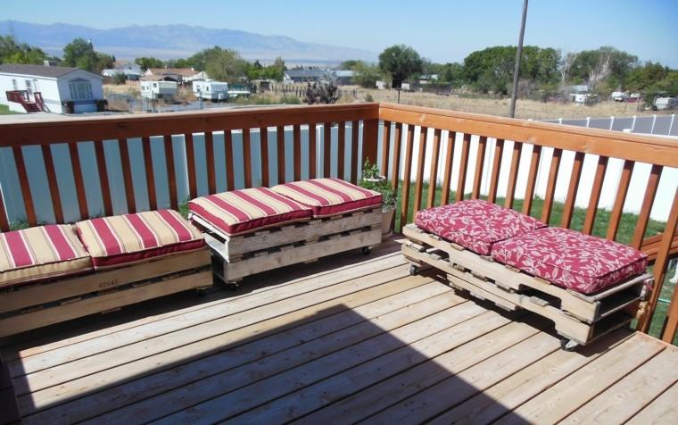 30 Diseños de muebles de palets para tu jardín 19