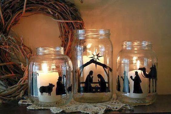 Centros De Mesa Para Navidad Con Botellas Ideas Creativas - Centros-de-mesa-navideos-con-velas