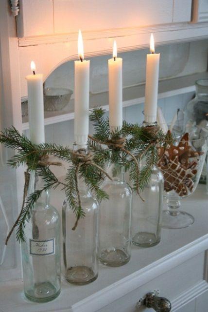 46 Centros de mesa para navidad con botellas 23