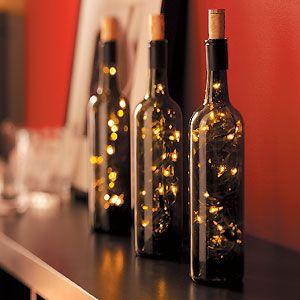 46 Centros de mesa para navidad con botellas 25