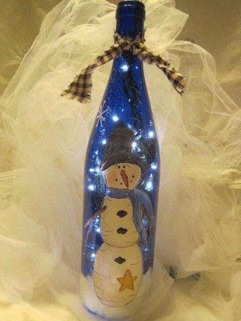 46 Centros de mesa para navidad con botellas 27