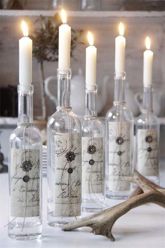 46 Centros de mesa para navidad con botellas 28
