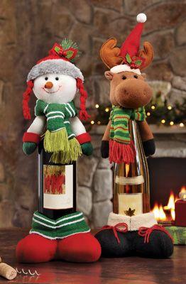 46 Centros de mesa para navidad con botellas 12
