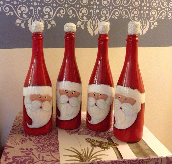 46 Centros de mesa para navidad con botellas 14