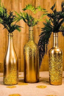 46 Centros de mesa para navidad con botellas 3