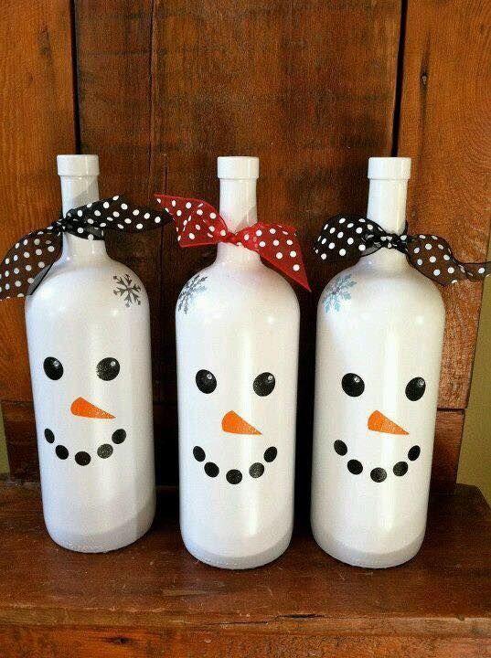 46 Centros de mesa para navidad con botellas 4