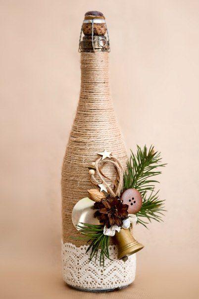 46 Centros de mesa para navidad con botellas 5