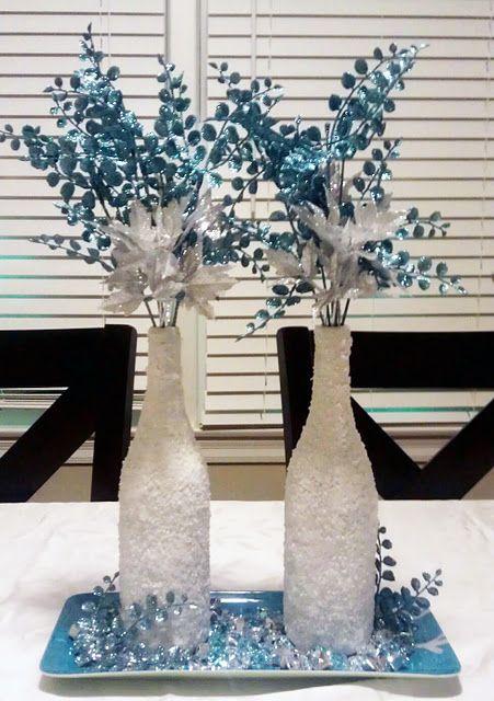 46 Centros de mesa para navidad con botellas 8