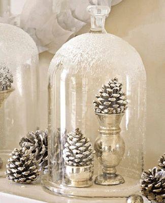 Centros de mesa navideño con piñas preciosos 18