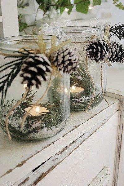 Centros de mesa navideño con piñas preciosos 28