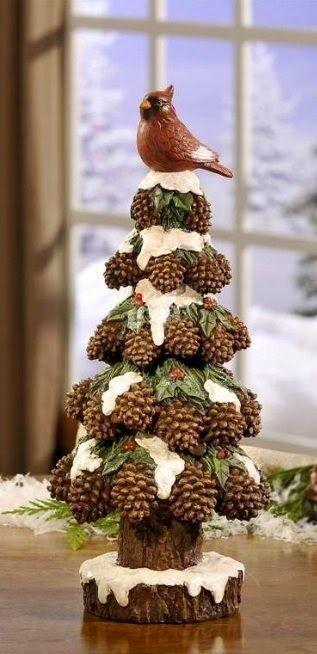 Centros de mesa navideño con piñas preciosos 29