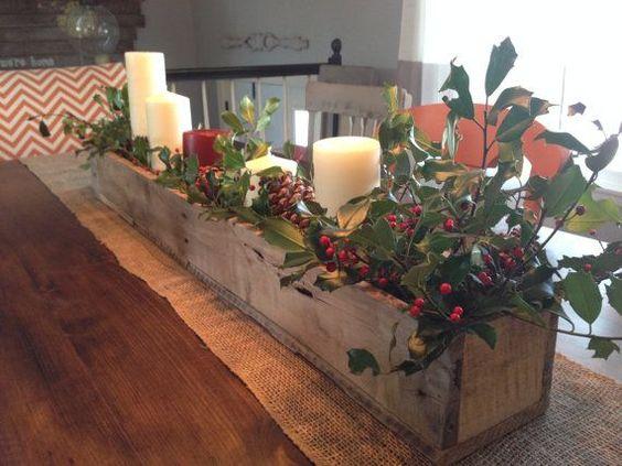 Centros de mesa navideño con piñas preciosos 30