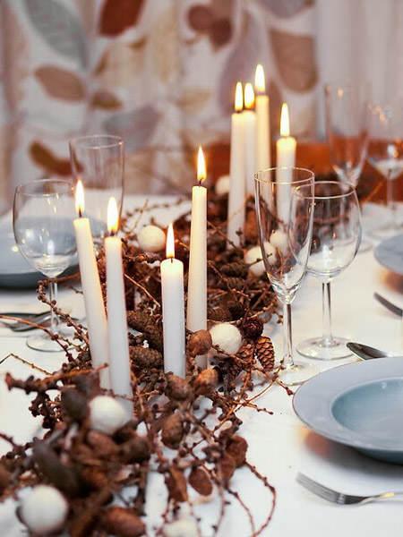 Centros de mesa navideño con piñas preciosos 7