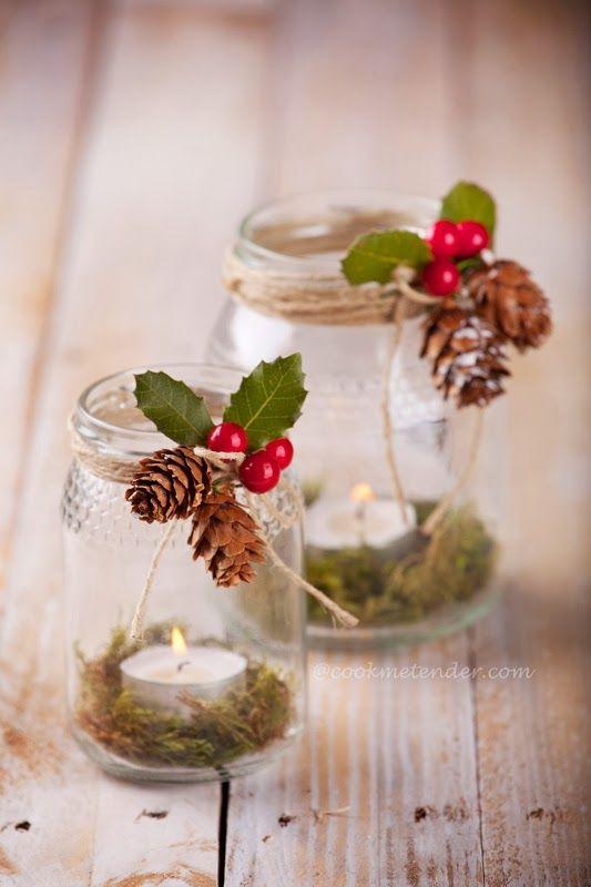 Centros de mesa navideño con piñas preciosos 20