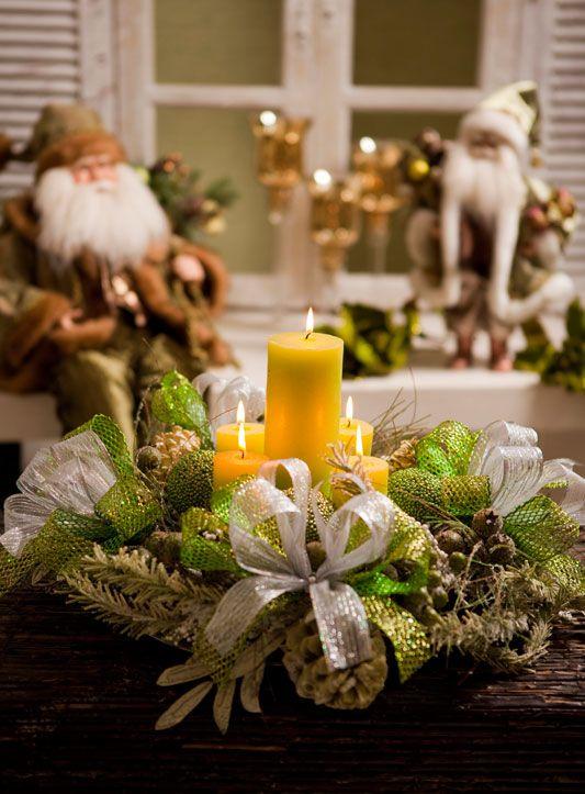 Centros de mesa navideño con piñas preciosos 25