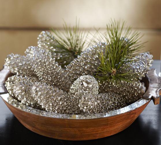 Centros de mesa navideño con piñas preciosos 26