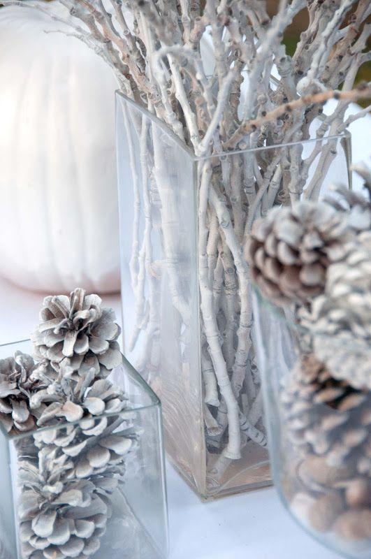 Centros de mesa navideño con piñas preciosos 14