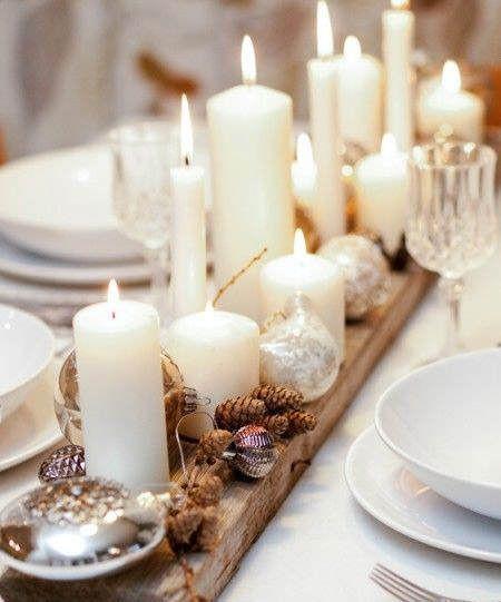 Centros de mesa navideño con piñas preciosos 16