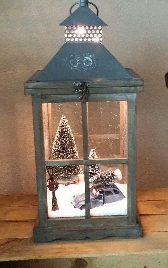 Centros de mesa navideño con piñas preciosos 35