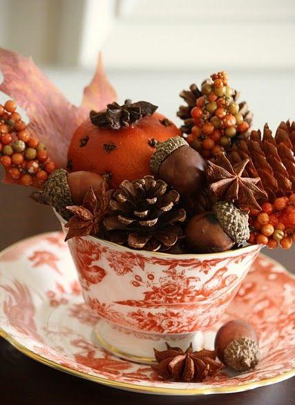 Centros de mesa navideño con piñas preciosos 37