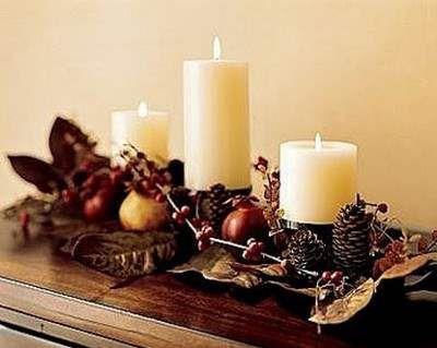 Centros de mesa navideño con piñas preciosos 41