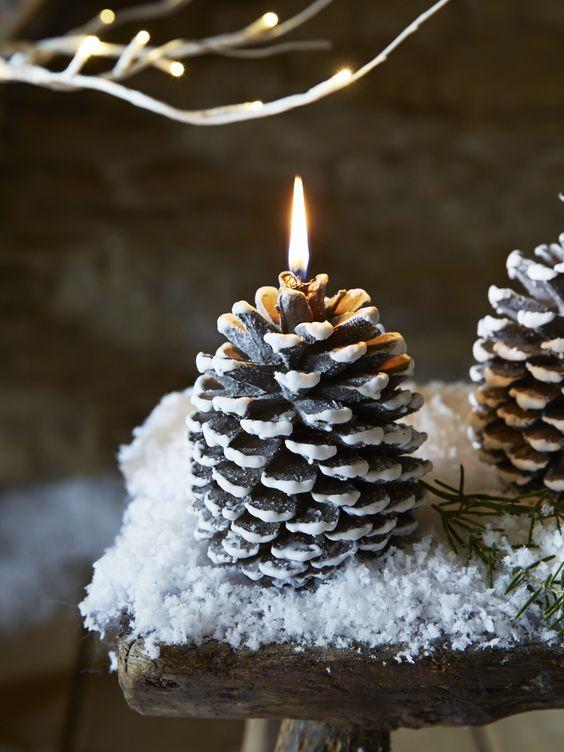 Centros de mesa navideño con piñas preciosos 52