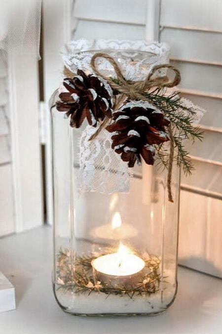 Centros de mesa navideño con piñas preciosos 54