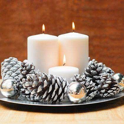 Centros de mesa navideño con piñas preciosos 47