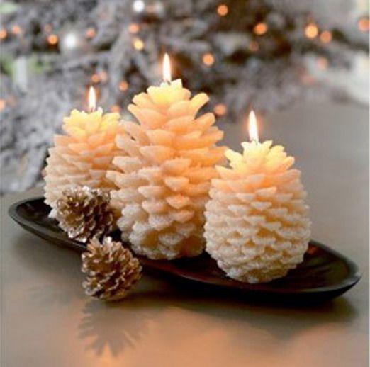 Centros de mesa navideño con piñas preciosos 48
