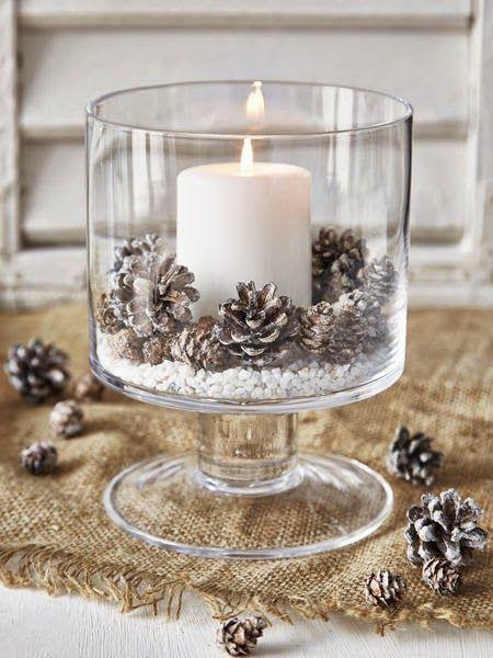 Centros de mesa navideño con piñas preciosos 50
