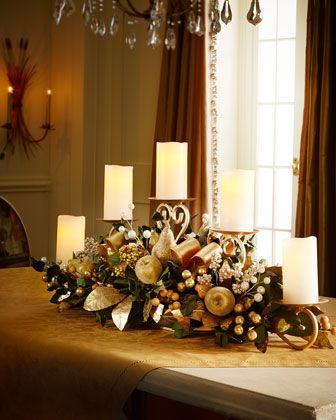 Centros de mesa navideño con piñas preciosos 51