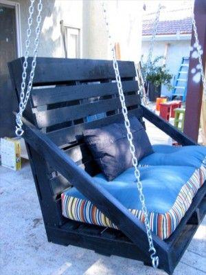 30 Diseños de muebles de palets para tu jardín 32
