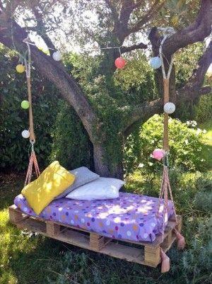 30 Diseños de muebles de palets para tu jardín 35