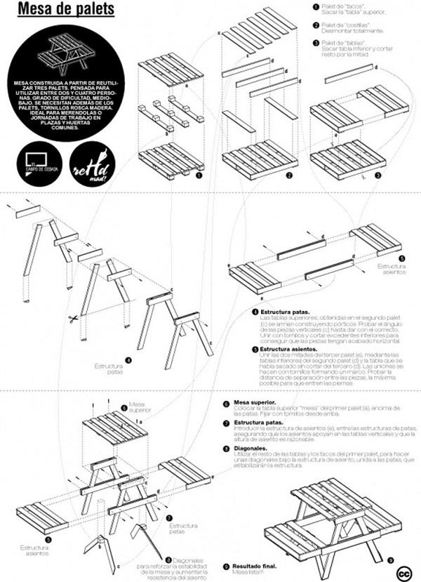 30 Diseños de muebles de palets para tu jardín 12