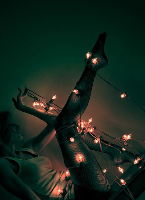 20 Ideas para tomar fotos únicas con luces de navidad 17
