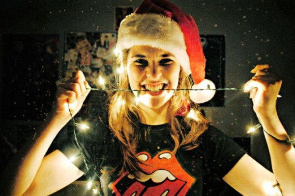 20 Ideas para tomar fotos únicas con luces de navidad 19
