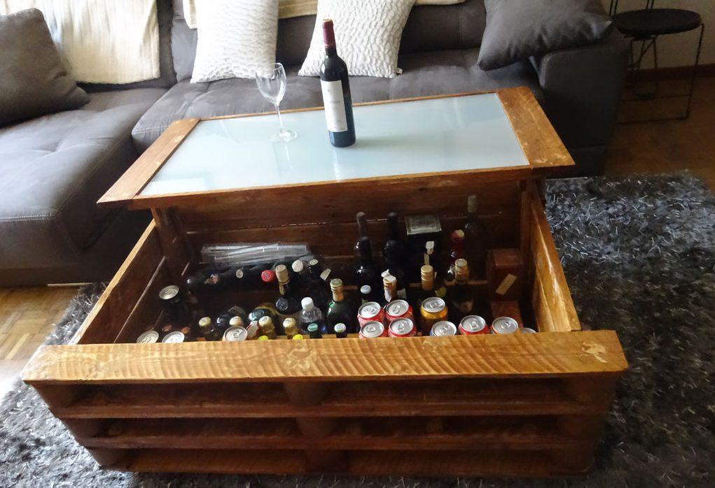 50 ideas de mesas hechas de palets y tutorial de c mo - Que hacer con un palet ...