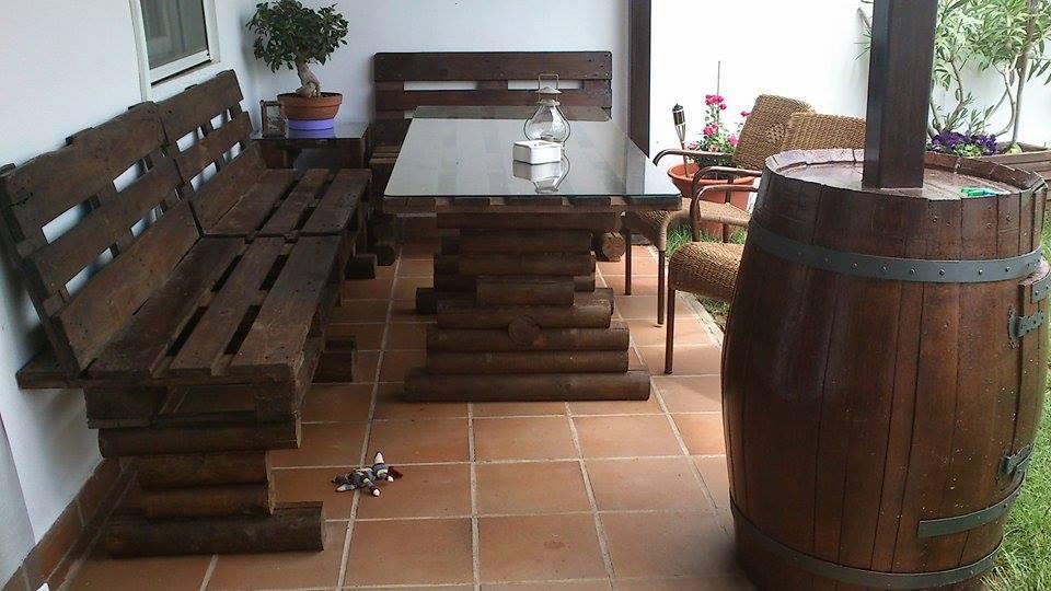 30 Diseños de muebles de palets para tu jardín 11