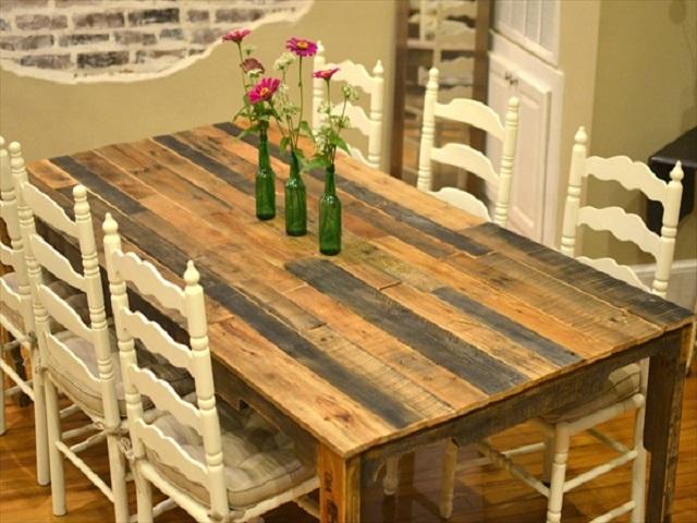 50 Ideas de mesas hechas de palets y Tutorial de ¿Cómo hacerlas?