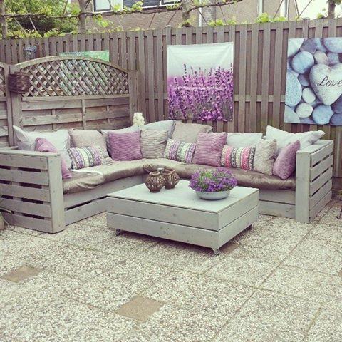 30 Diseños de muebles de palets para tu jardín 2