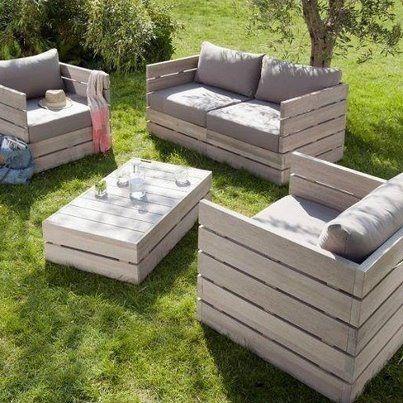 30 Diseños de muebles de palets para tu jardín 4