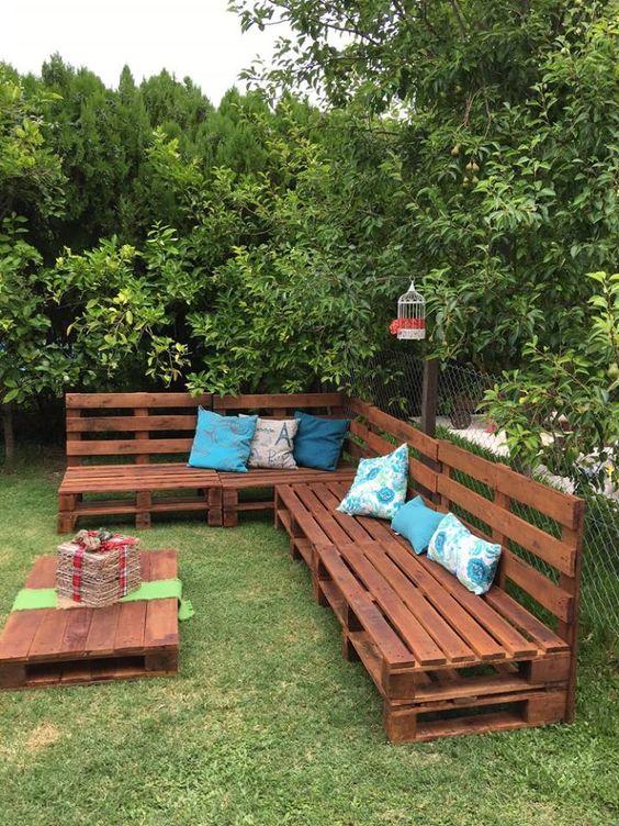 30 Diseños de muebles de palets para tu jardín 5