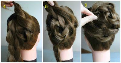 Peinado de Rosa demostrado por un experto 3