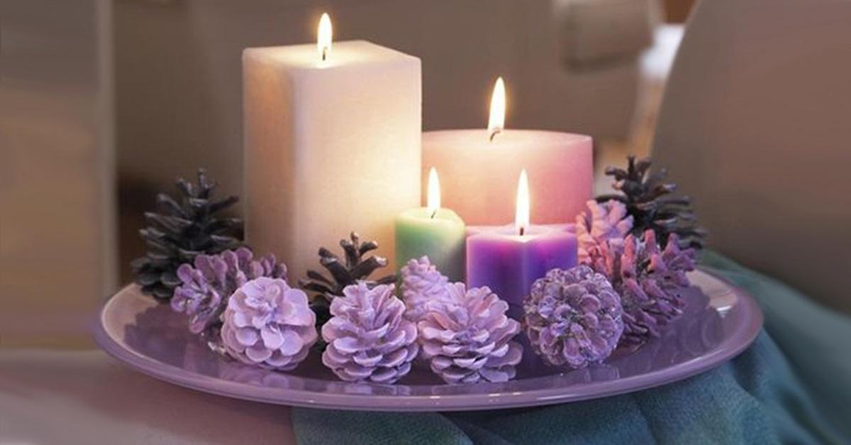 Centros de mesa navideño con piñas preciosos 36