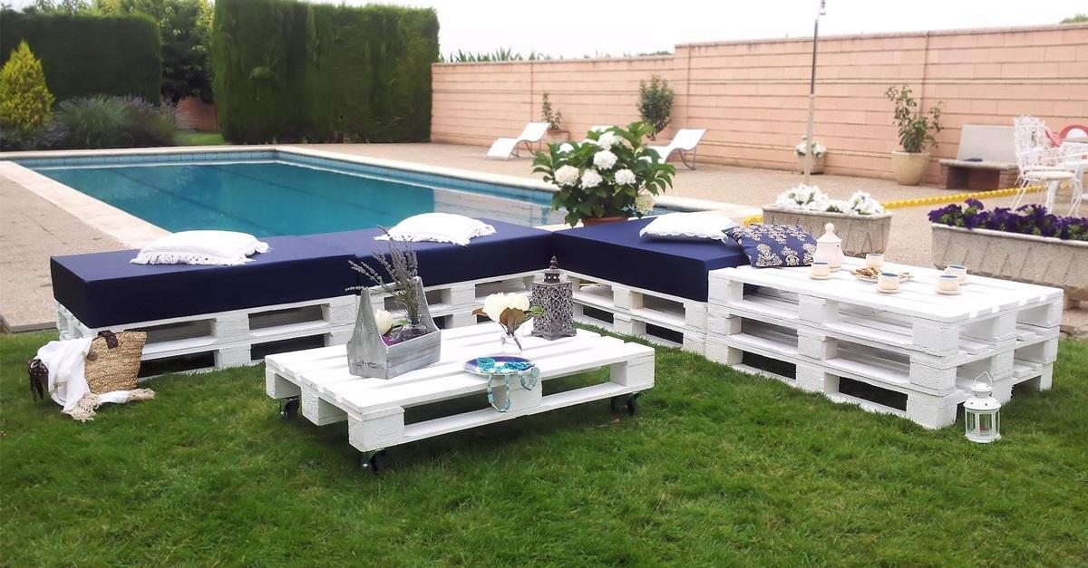 30 Diseños de muebles de palets para tu jardín 56