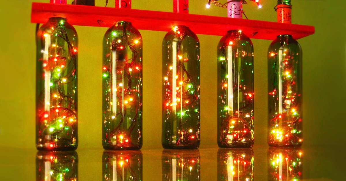 46 Centros de mesa para navidad con botellas 34