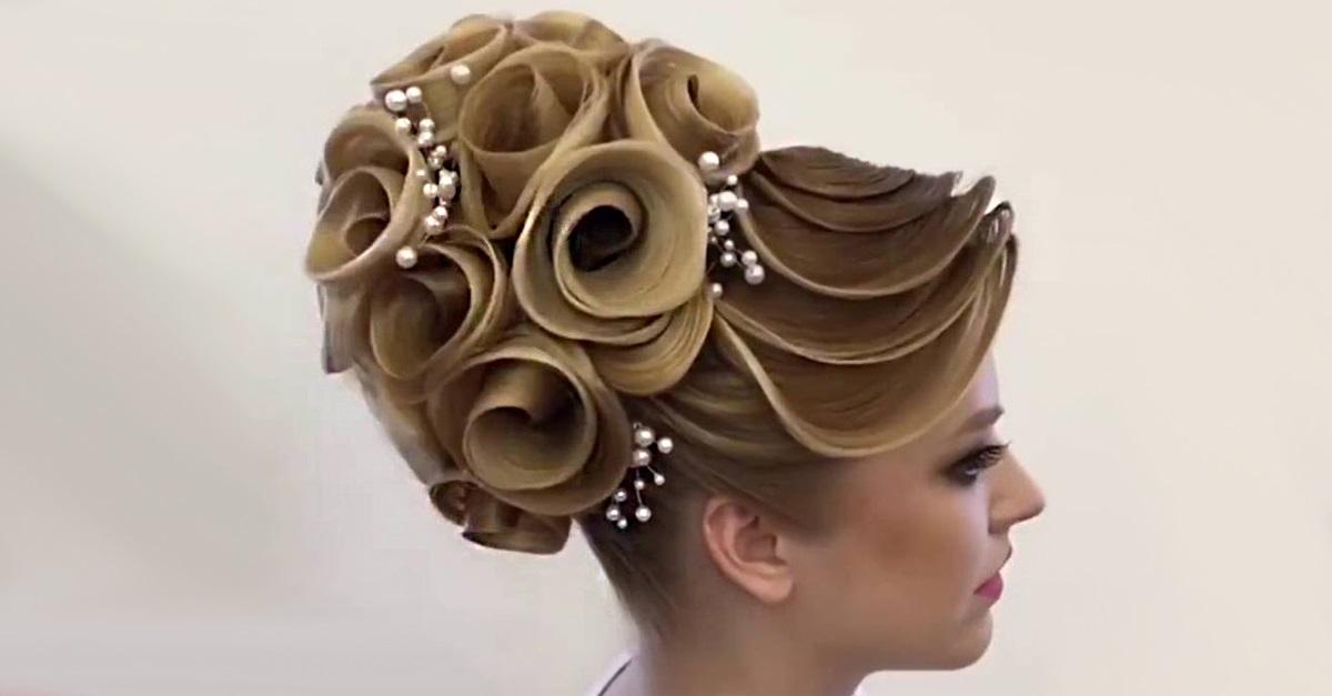 Peinado de Rosa demostrado por un experto 59
