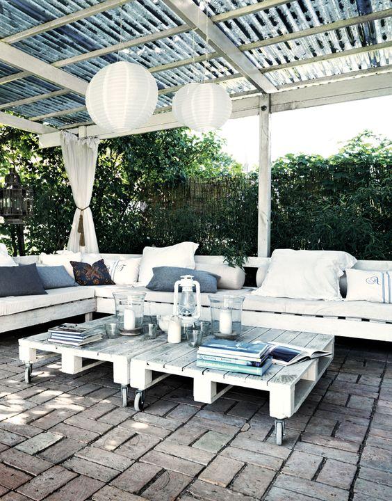 30 Diseños de muebles de palets para tu jardín 20